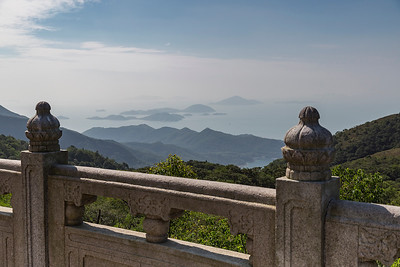Beautiful view of the South China Sea from atop Buddha