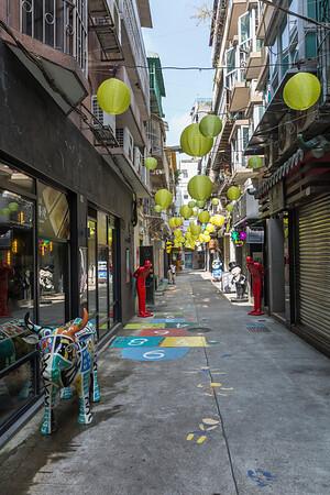 A side alley of merchants