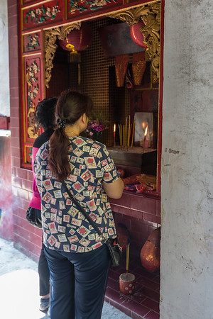 Little monastery along the street to make offerings and prayers