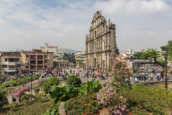 The ruins of St. Paul in Macau