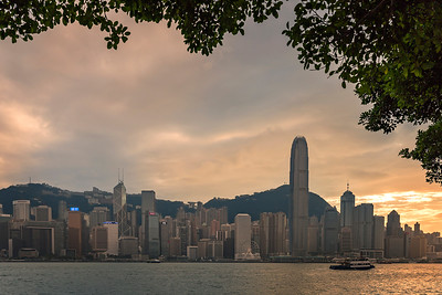 A calm sunset over HK