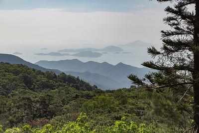 View atop the peak of the Tian Tan Buddha on Lantau Island
