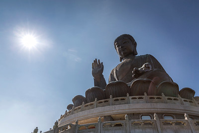 The Tian Tan Buddha, one of five large Buddhas in China