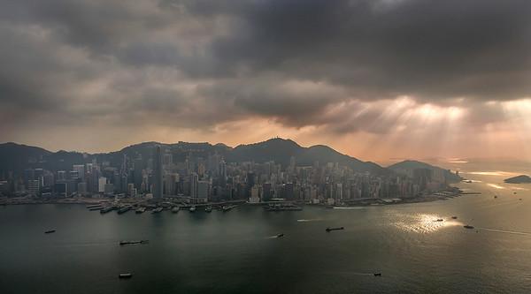 A shot from Sky 100 Observation Deck