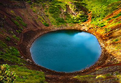 A volcano crater