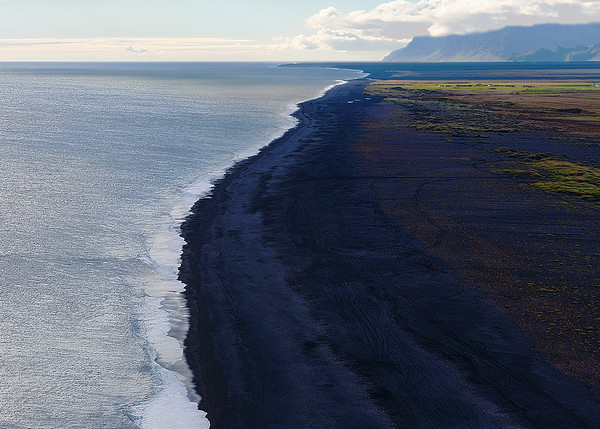 Black sand beach from the lava!