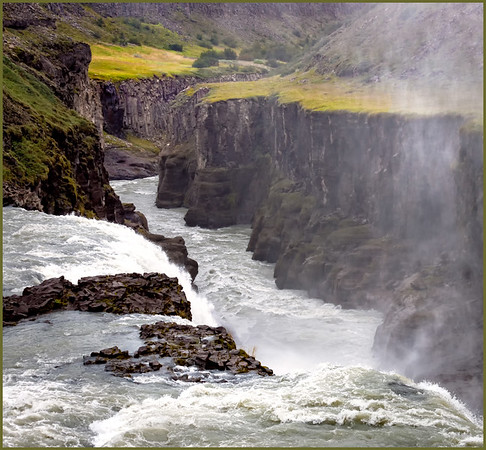 The run-off from the Gullfoss waterfall!
