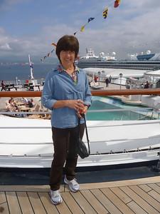 Shirley on deck