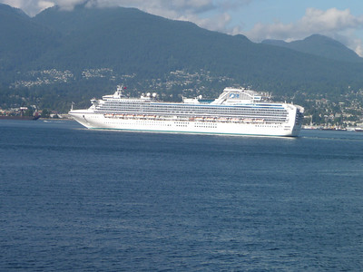 another cruise ship in Vancouver harbor