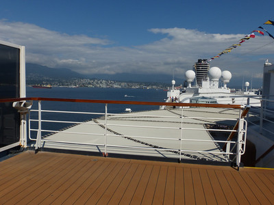 on the top deck of the Zuiderdam