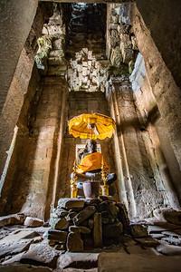 Buddha inside a temple