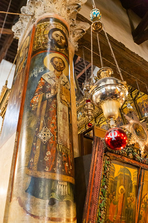 The Church of the Nativity.  Beautiful painted columns