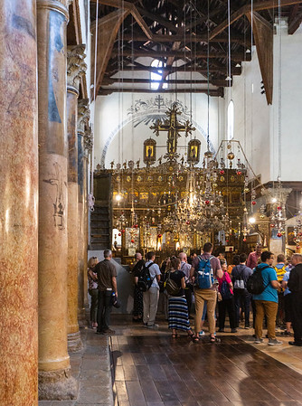 Inside The Church of the Nativity.