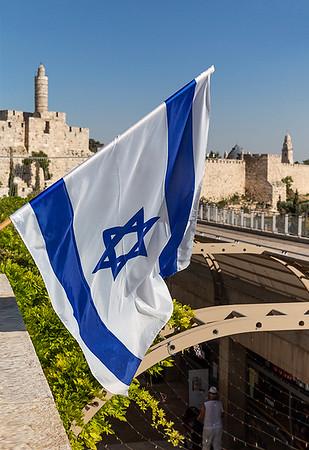 Israeli's love flying their flag everywhere