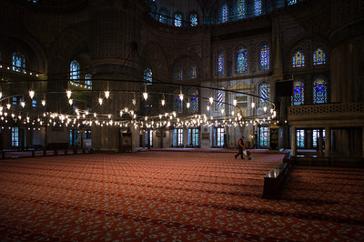 Blue Mosque cleaner
