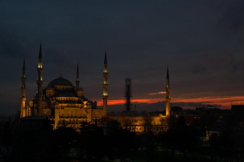 Blue Mosque evening