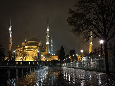 Snowy Blue Mosque
