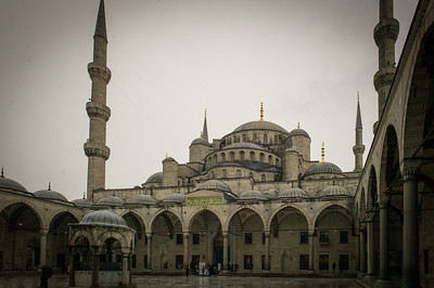 Blue Mosque forecourt fountain