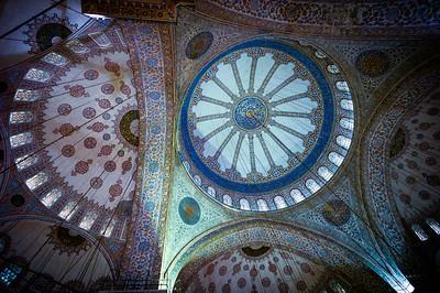 Blue Mosque dome decor