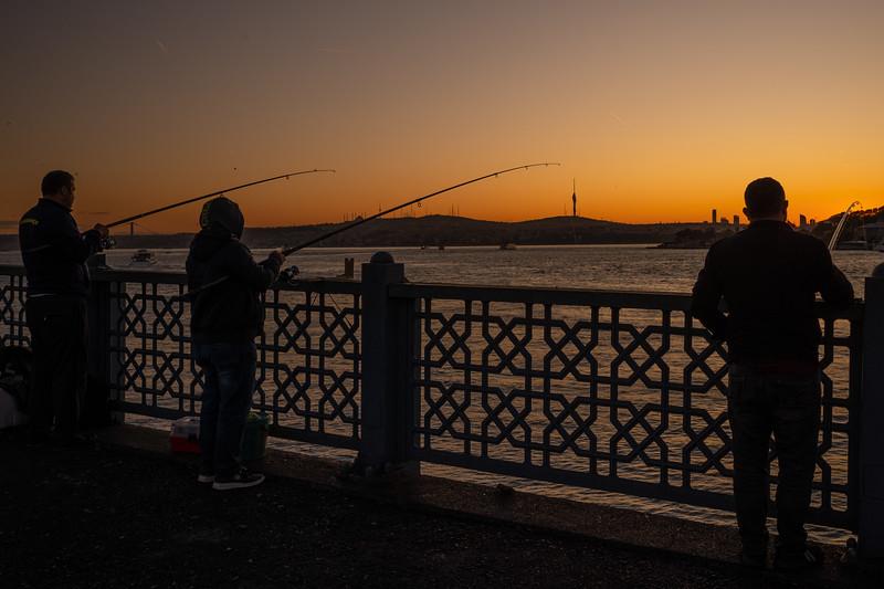 Galata Bridge fishermen.