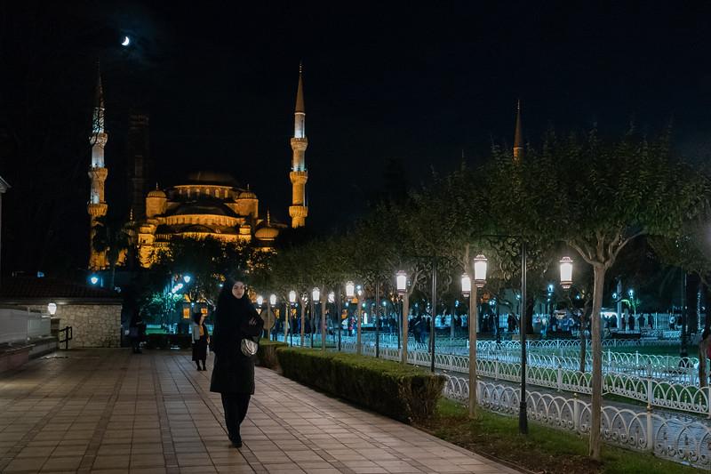 Süleymaniye Mosque moon