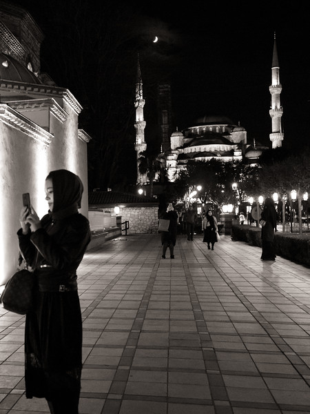 Moon over Süleymaniye Mosque