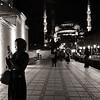 Moon over Süleymaniye Mosque