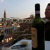 Wine and cheese - hotel roof