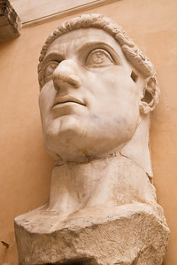 Constantine' (25ft high) statue : head