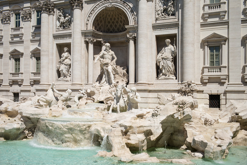 Trevi Fountain front