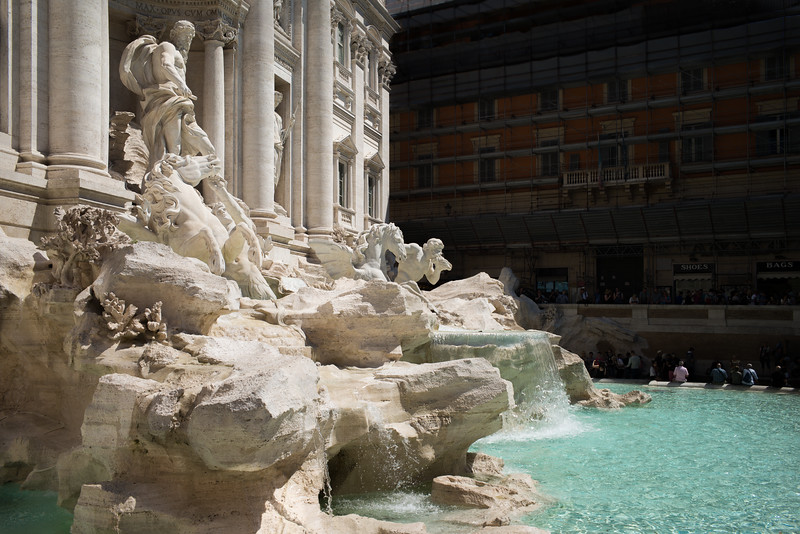 Trevi Fountain side