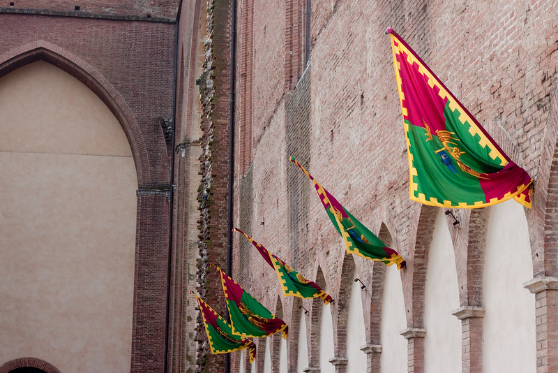 Several palio banners