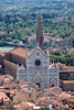 Florence view with Basilica of the Holy Cross