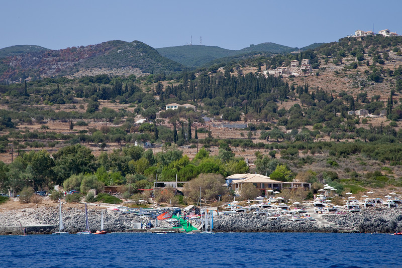 Peligoni Club to Zaharoula from the sea.