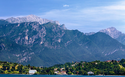 The Alps from a boat on Lake Como!