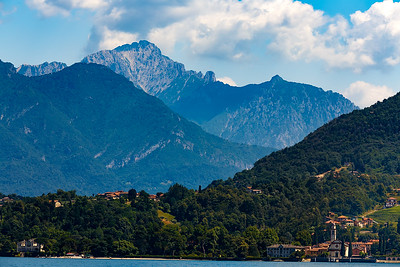 The Alps again....from a boat on Lake Como!  The Lake affords the best view of everything it seems!