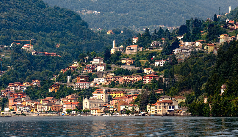 Argegno - once again from a boat on Lake Como!