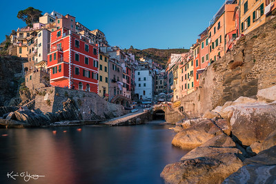 Sunset at Riomaggiore