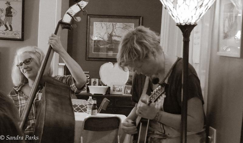 Friday night jam -- Lorie and Kellie