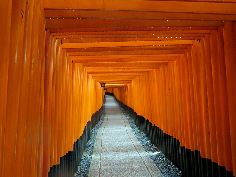 Fushimi Inari-taisha - Each torii was donated by a local business, there are over 10,000 toriis.
