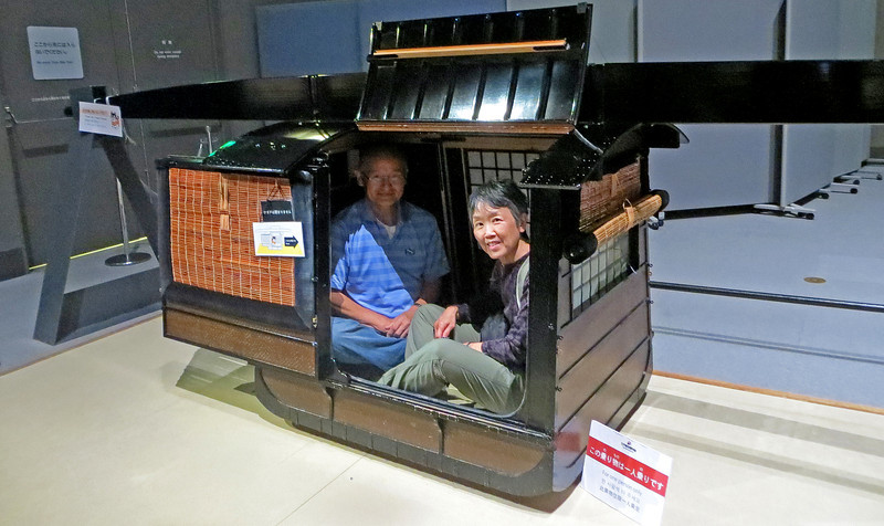 Edo-Tokyo Museum - Palaquin to carry damiyo's and other priviledged people.