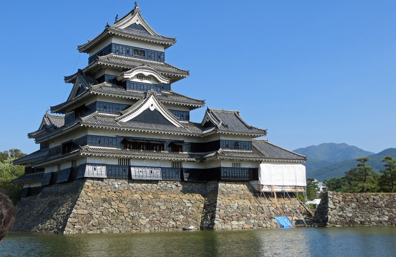 "Matsumoto Castle - A  National Treasure and a good example of a fortified ""flatland"" castle. It is also known as the ""Crow Castle"" because of it's black color. History dates back to 1504."