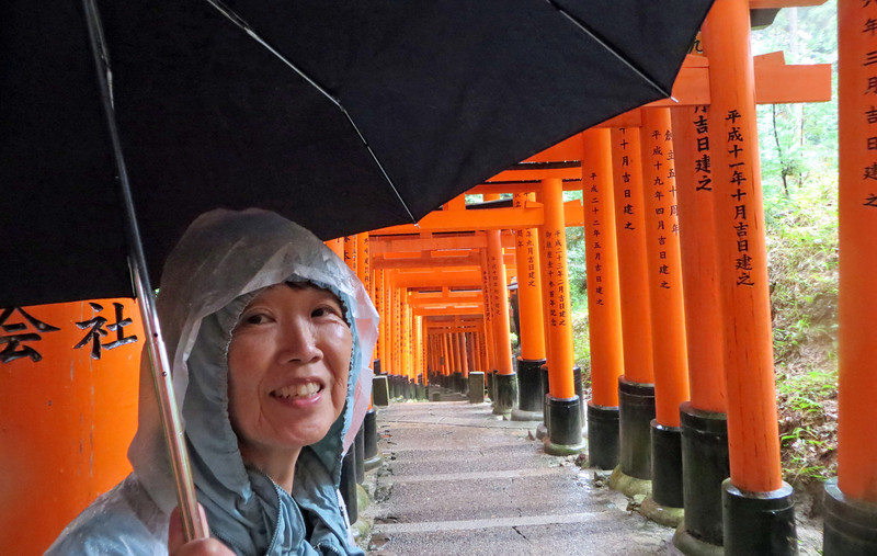 "Fushimi Inari-taisha - Path leads through thousands of torii to the top. Make a wish - ""Your wishes will come through the gate..."""