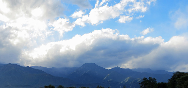 A view of the Japanese Alps from Matsumoto. The Alps are 9800 feet high and are second to only Mt Fuji.