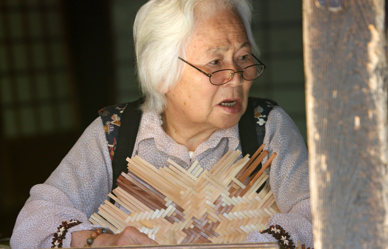 Tsumago - Hat weaver