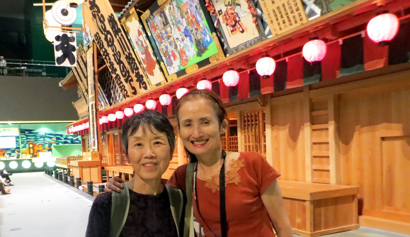 Edo-Tokyo Museum - Our guide Harriet who did a marvelous personal 1 1/2 hour tour!