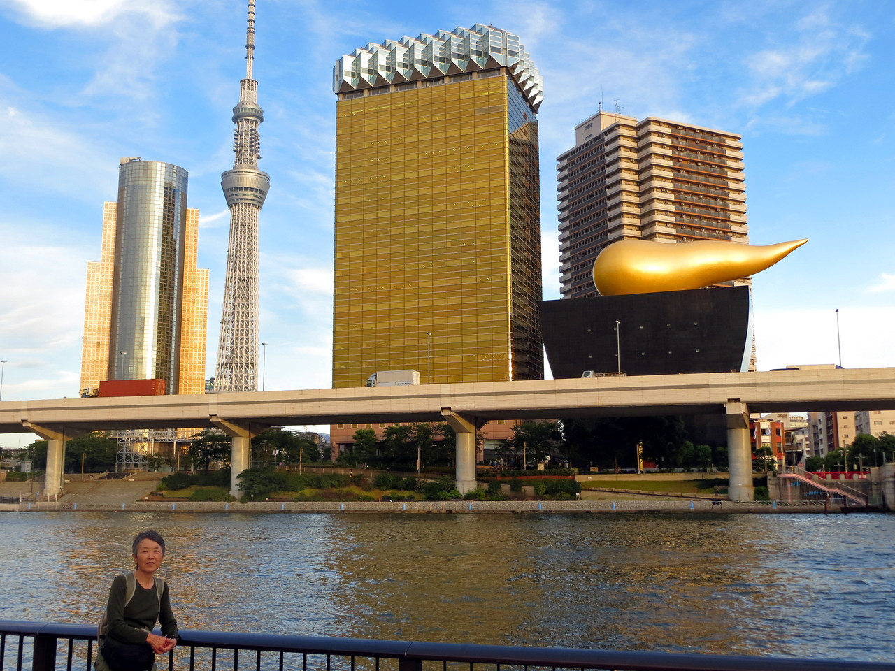 Asakusa Area - Sumida River and Tokyo Skytree in background.