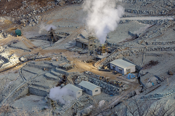 Hakone Hot Spring Supply Corporation Steam Well Cluster