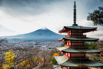 Chureito Pagoda and Mt Fuji