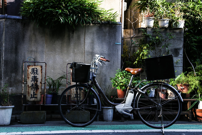 Cycling is another mode of commuting on the streets of Japan